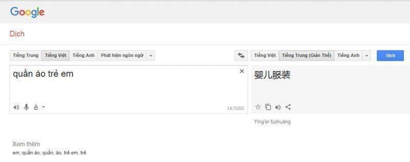 Sử dụng công cụ Google Transale để order Taobao